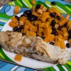 Seared Snapper with Roasted Sweet Potato Salad