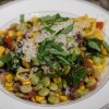 Morning After Meal: Assemblage Cooking: Succotash with Corn Pasta