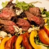 Steak Salad with Grilled Peaches and Blue Cheese