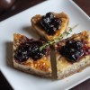 Stilton Tart with Blueberry Sage Compote