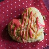 Cherry Lime Scones, Heart-shaped for Valentine's