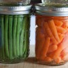 Spicy Mint and Dill Quick Pickled Beans and Carrots