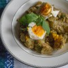 Pesto Potatoes with Soft-Boiled Eggs