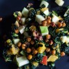 Fall Kale Salad with Spicy Garbanzos