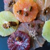 Citrus Flowers with Spicy Pistachio Brittle