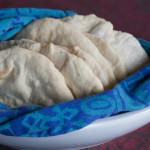 homemade pita bread halves