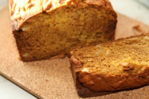 pumpkin bread cross section