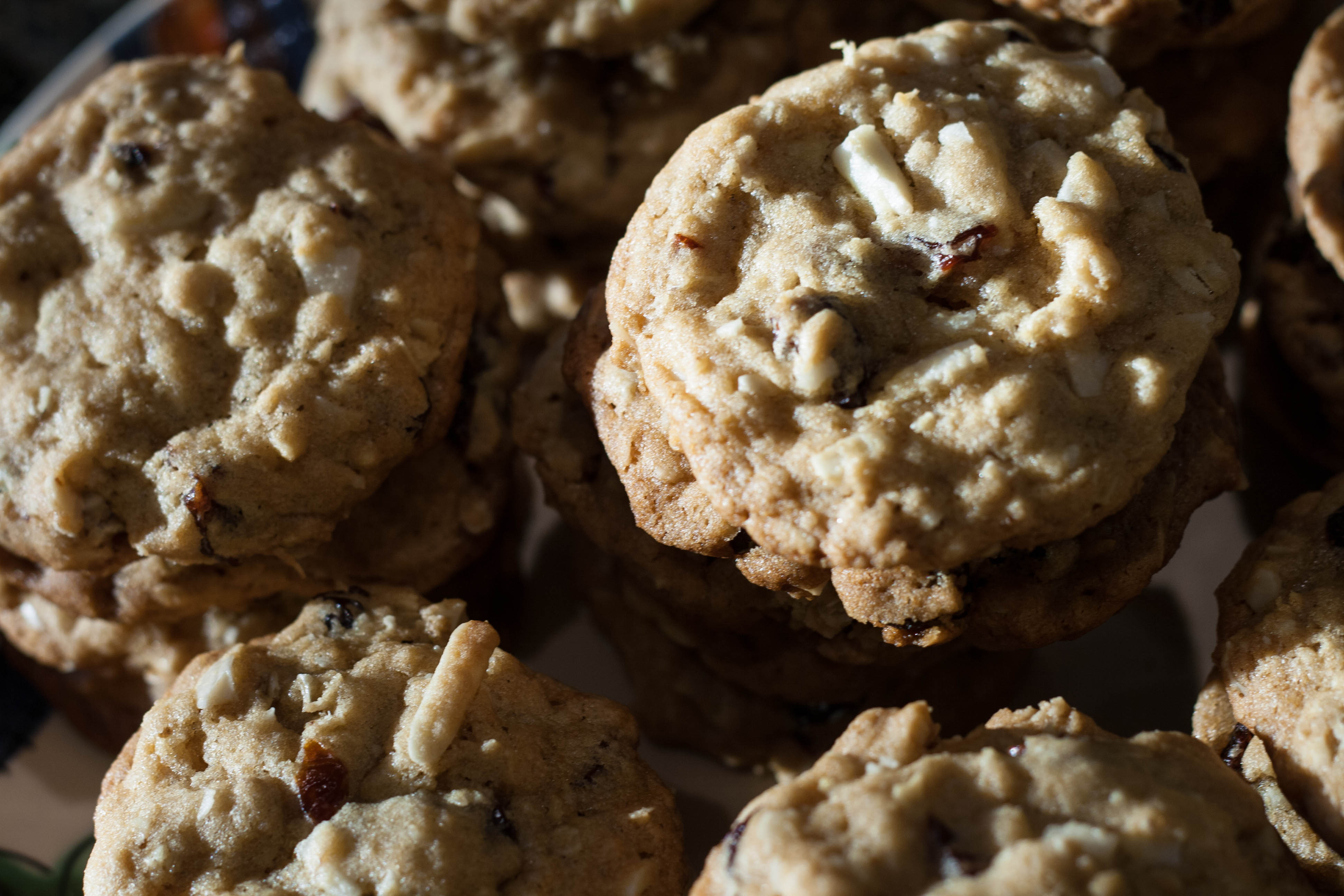 aerial cherry oatmeal cookies