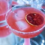 blood orange margarita closeup