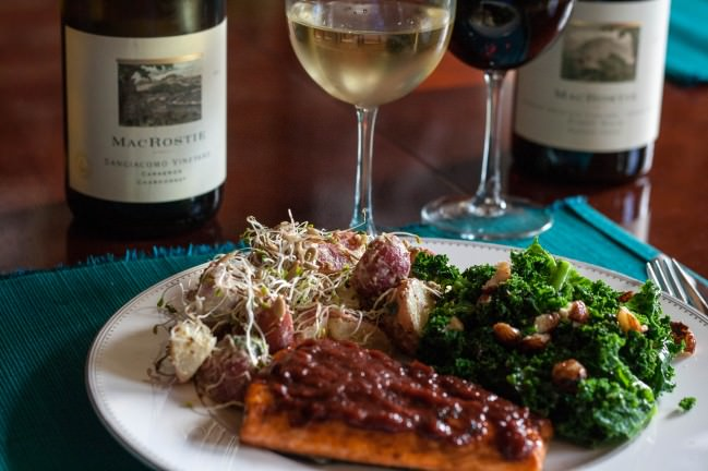 a tale of two wines salmon bbq