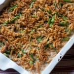 fresh from the oven green bean casserole