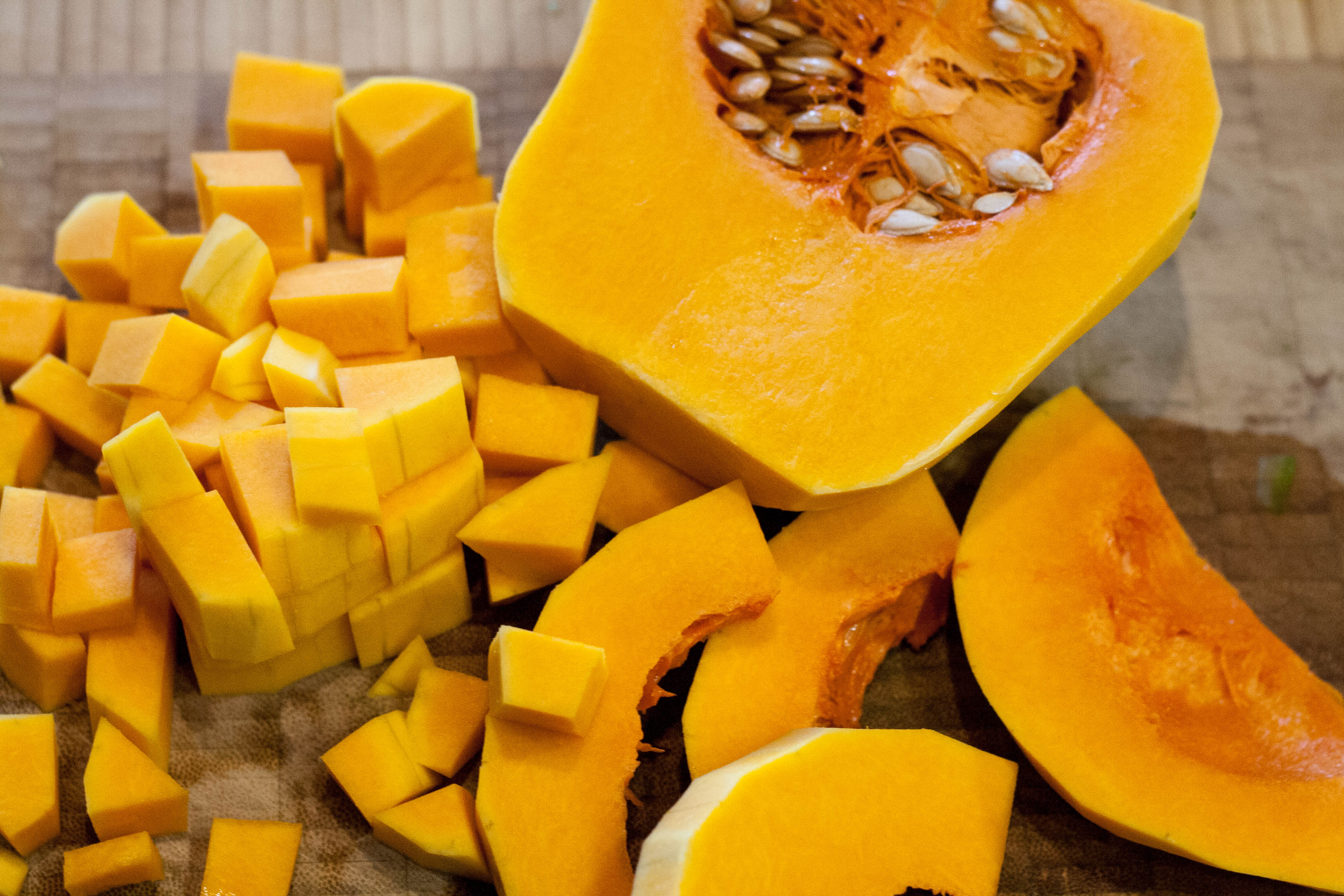 how to cook diced butternut squash in the oven