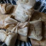 tamales wrapped and steamed