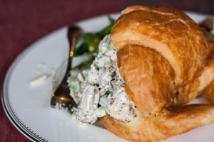 Ladies Lunching Chicken Salad in croissants