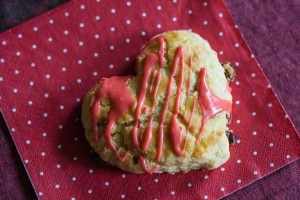 cherry lime scone for valentine's