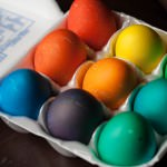 dyeing easter eggs saturated hues