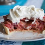 Fresh Strawberry Pie with Rhubarb Curd big bite
