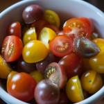 Smoky, Spicy Homemade Buttermilk Dressing halved jewel tomatoes