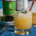 Pineapple Sage Cocktail with chartreuse