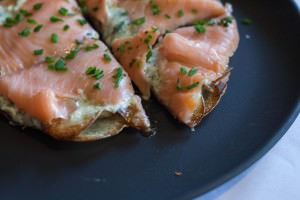 brunch with cedar kitchenette smoked salmon on potato pancake