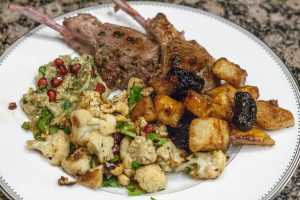 Mint Butter Lamb Chops Jerusalem dinner