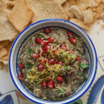 Baba Ganoush via Jerusalem with lemon and pomegranate