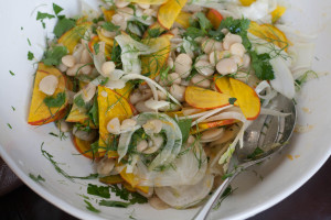 Butter Bean Salad with Meyer Lemon Vinaigrette marinating