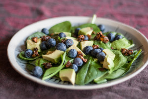 Crunchy Blueberry Avocado Salad
