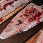 Cedar Plank Salmon with Cherry Glaze ready for grill