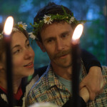 Midsommar's Table flower crowns and candlelight