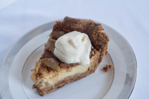 Rye Crust Apple Custard Pie dallop of creme fraiche