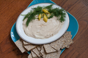 Salmon Mousse with Rye Crisps