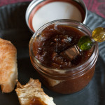 Thick and Smooth Fall Apple Butter with croissant