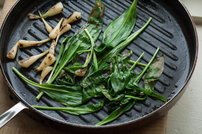 Grilled Ramp Butter grilled ramps