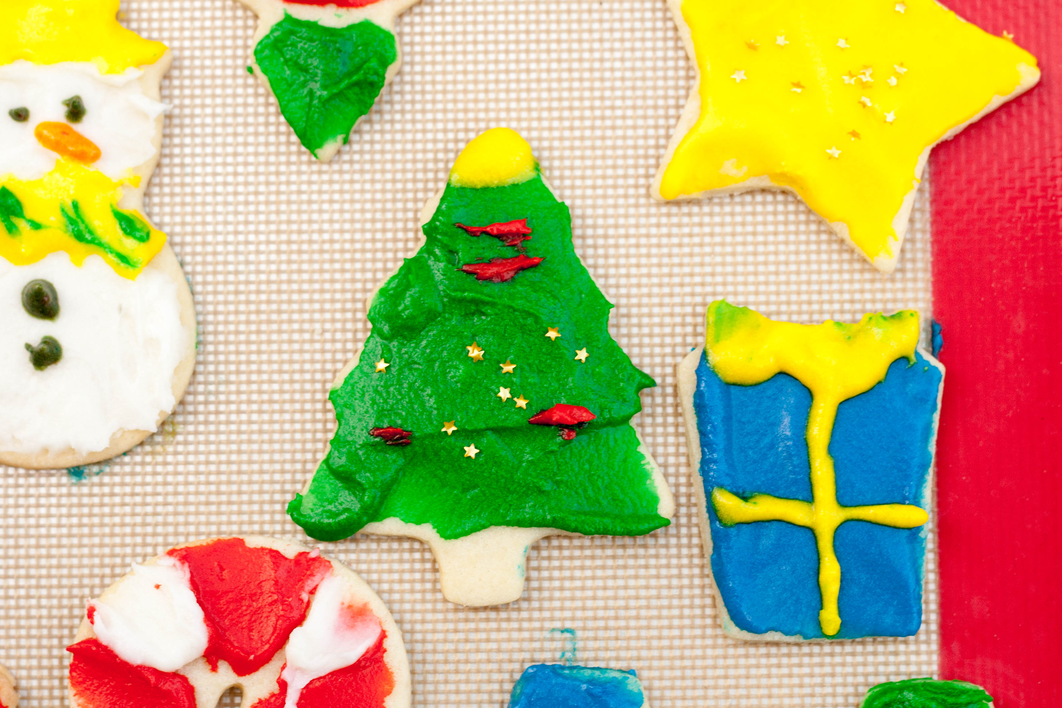Old School Sugar Cookies with Almond Icing tree